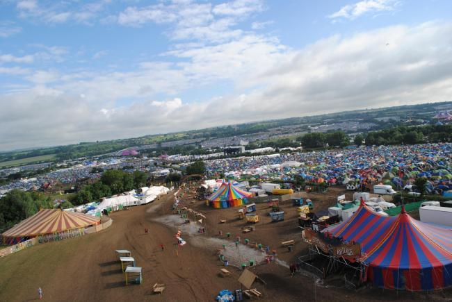 SITE: The Glastonbury Festival PICTURE: Paul Jones