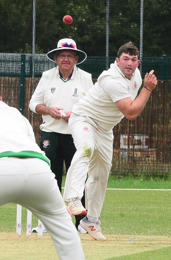 UNBEATEN: Reid Mawdsley, who scored 71 and took two wickets for Chard on Saturday. Pic: Steve Richardson