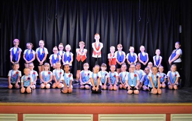 PERFORMERS: Manor Court pupils at the recent variety show