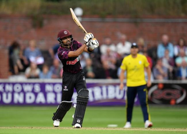 STANDOUT: Babar Azam made 95 for Somerset against Hampshire. Pic: SCCC