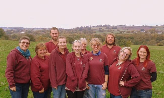 SUPPORT: Staff from Magdalen Farm