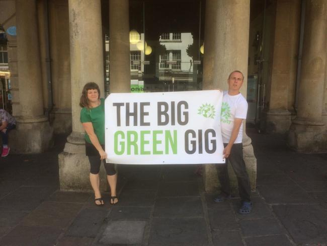 Serena Wootton and Tim Eggins at the launch of the Big Green Gig