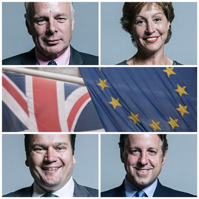 PARTY LINES: For Somerset MPs, clockwise from top left, Ian Liddell-Grainger, Rebecca Pow, Marcus Fysh and James Heappey