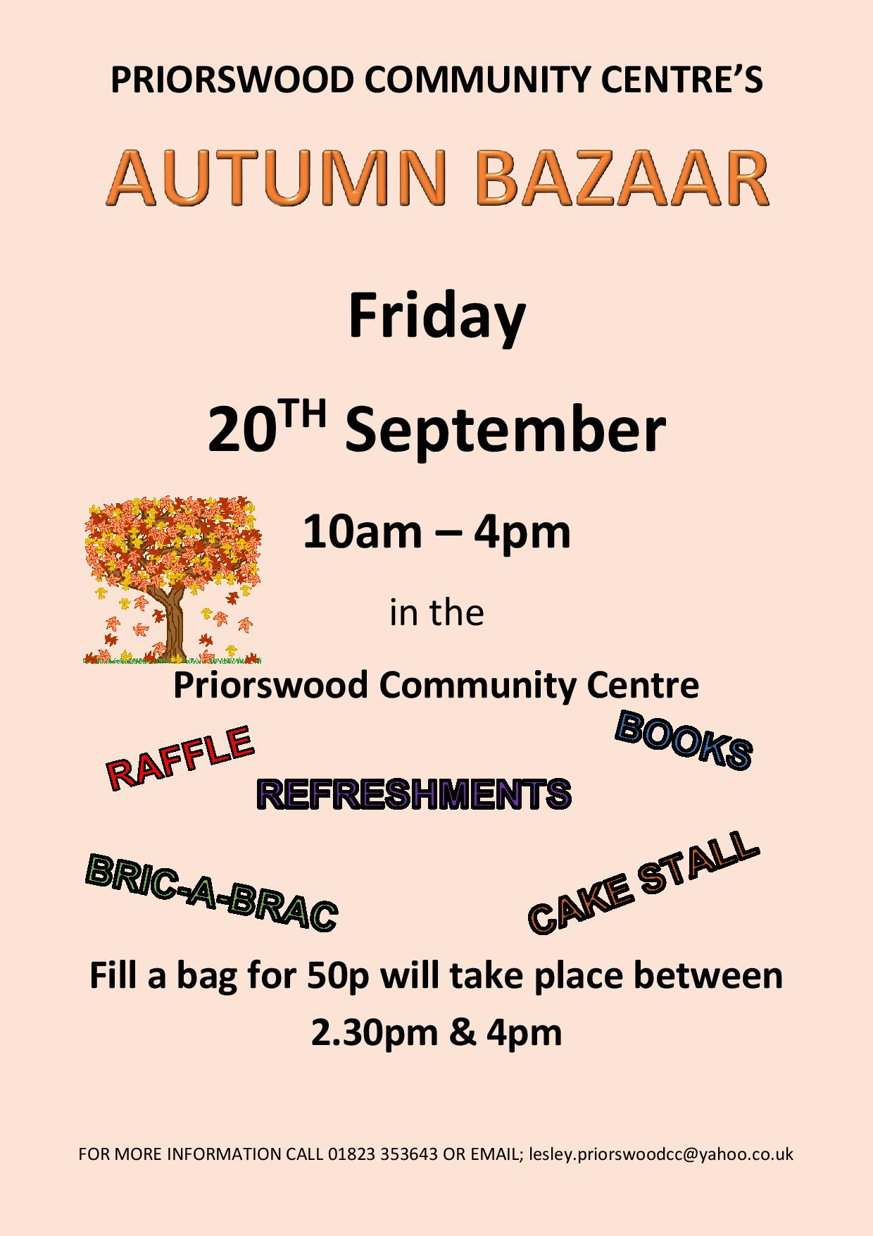 Priorswood Community Centre Autumn Bazaar