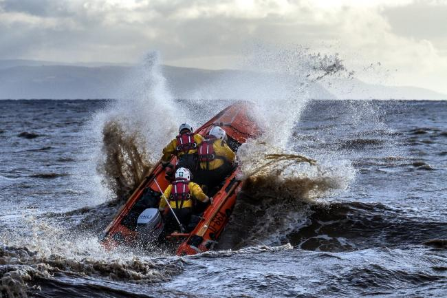 VITAL WORK: An RNLI crew training off the Somerset coast. PICTURE: Martin Grant/Somerset Camera Club