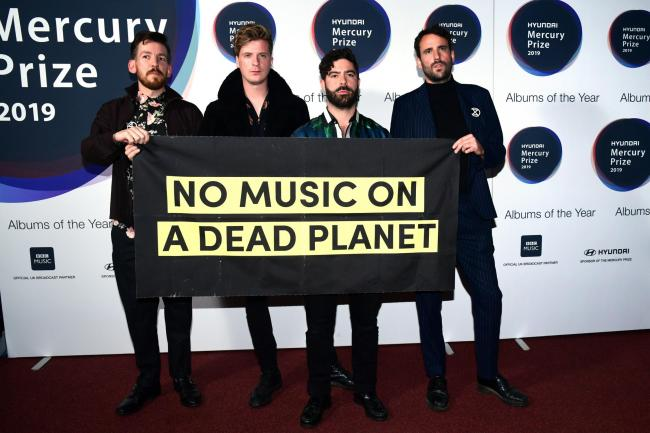 Foals during the Hyundai Mercury Prize 2019, held at the Eventim Apollo, London
