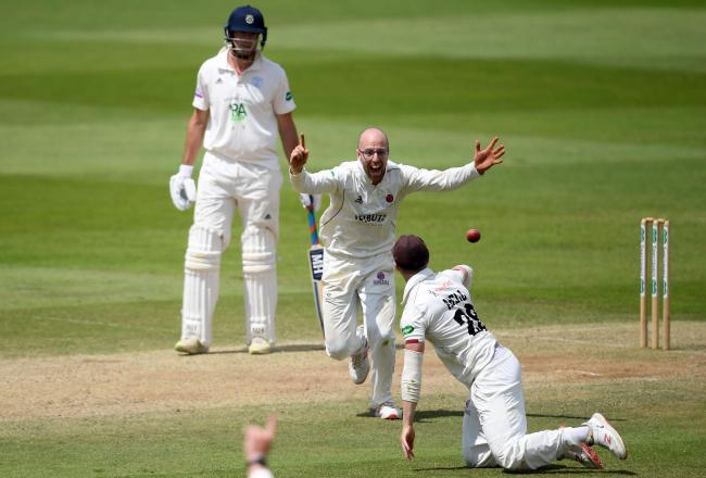 JACK'S BACK: Jack Leach is available for Somerset's title decider against Essex. Pic: Alex Davidson/SCCC