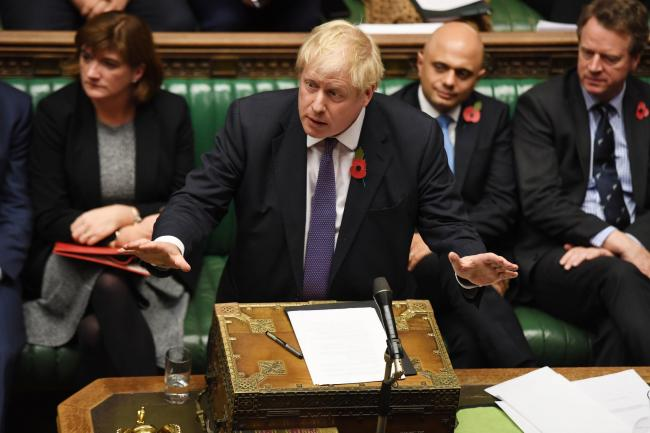 PASSIVE: PM Boris Johnson during the debate over an early General Election. PICTURE: UK Parliament/Jessica Taylor/PA Wire