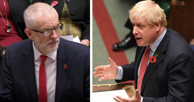 GOING TO THE POLLS: Labour leader Jeremy Corbyn and his Conservative counterpart, Boris Johnson. PICTURES: House of Commons/PA Wire