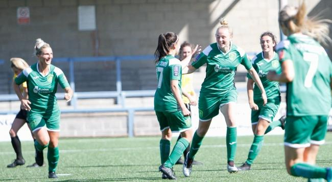 Yeovil Town Women celebrate a goal Picture: LEE COLLIER PHOTOGRAPHY