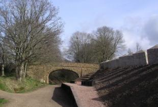 The restored Donyatt Halt station where volunteers uncovered anti-tank blocks (which can be seen on the right) installed during the Second World War