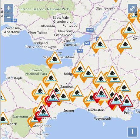 FLOOD ALERTS: The latest warnings in the South West