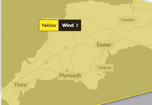 WARNING: The Met Office is predicting winds of up to 70mph
