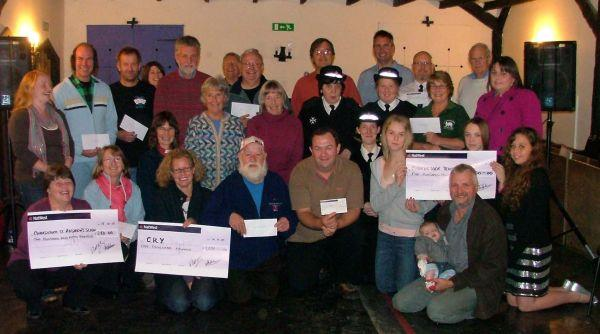 PICTURED are the cheque recipients and beneficiaries of the Chardstock Street Fair at the presentation evening. PHOTO: Submitted.