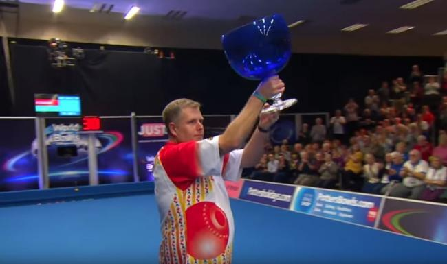CHAMPION: Rob Paxton celebrates. Pic: World Bowls Tour/YouTube