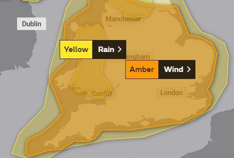 WARNING: Somerset has an amber wind warning for Sunday