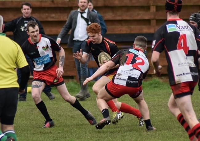 GAP: Matt Coombes on the ball for Chard 2nd XV. Pic: Hannah Giles