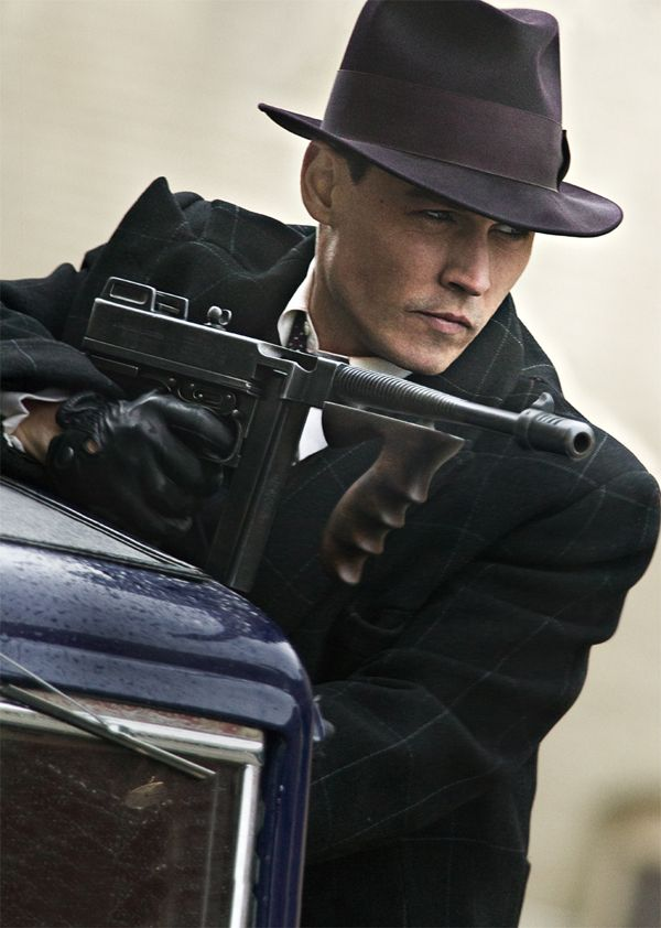 ONE OF THE GANG: Johnny Depp plays outlaw John Dillinger in Public Enemies.