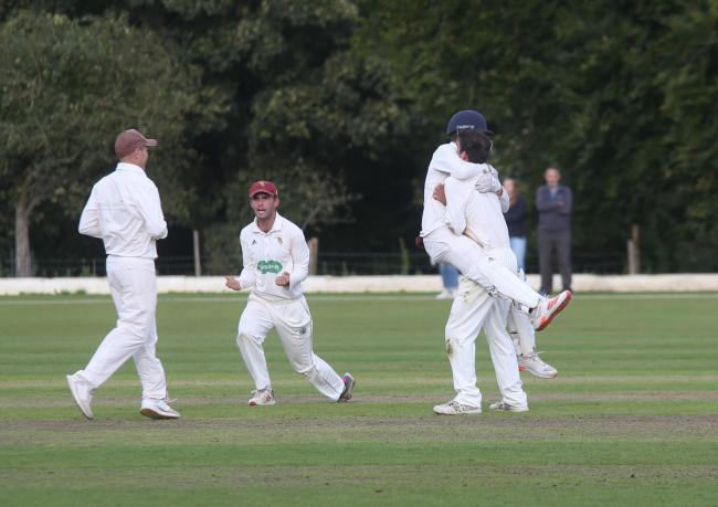 CELEBRATION TIME: North Perrott are one win away from Lord's (pic: Adrian Hopper)