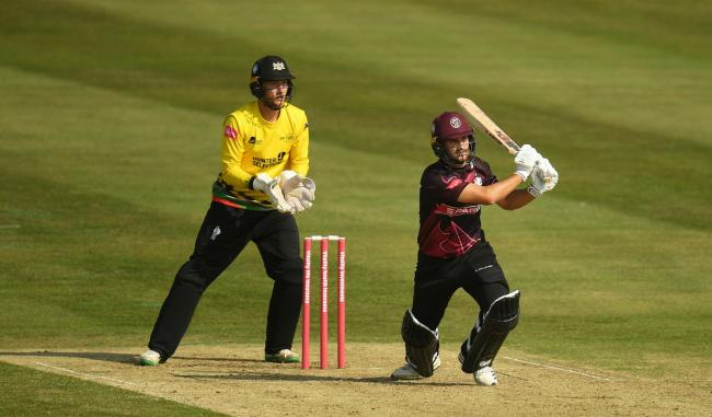 HALF-CENTURY: Lewis Gregory top scored for Somerset away to Gloucestershire on Sunday (pic: SCCC)