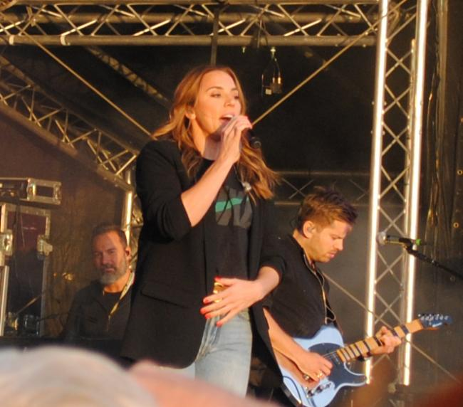 PREVIOUS SOMERSET SHOW: Melanie C at Watchet Festival in 2018. PICTURE: Paul Jones