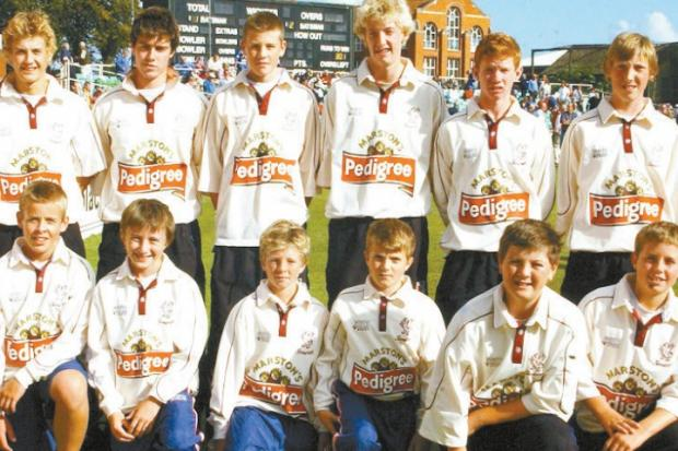 TALENT: Somerset County Cricket Club youth award winners for the 2005 season (see below for names)