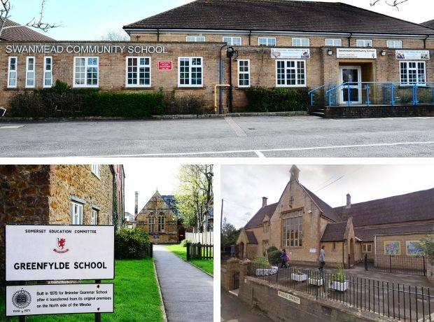 Swanmead School, Greenfylde School, and Misterton School
