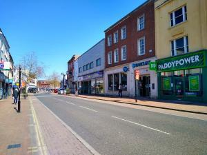 EMPTY STREETS: North Street in Taunton