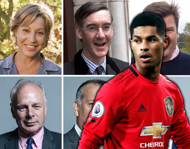 VOTES: Somerset MPs voted on the Free School Meals motion, backed by Manchester United star, Marcus Rashford