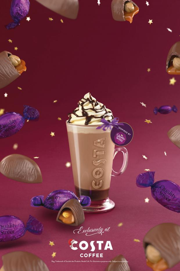 Chard & Ilminster News: The Quality Street Purple One Latte. Credit: Costa