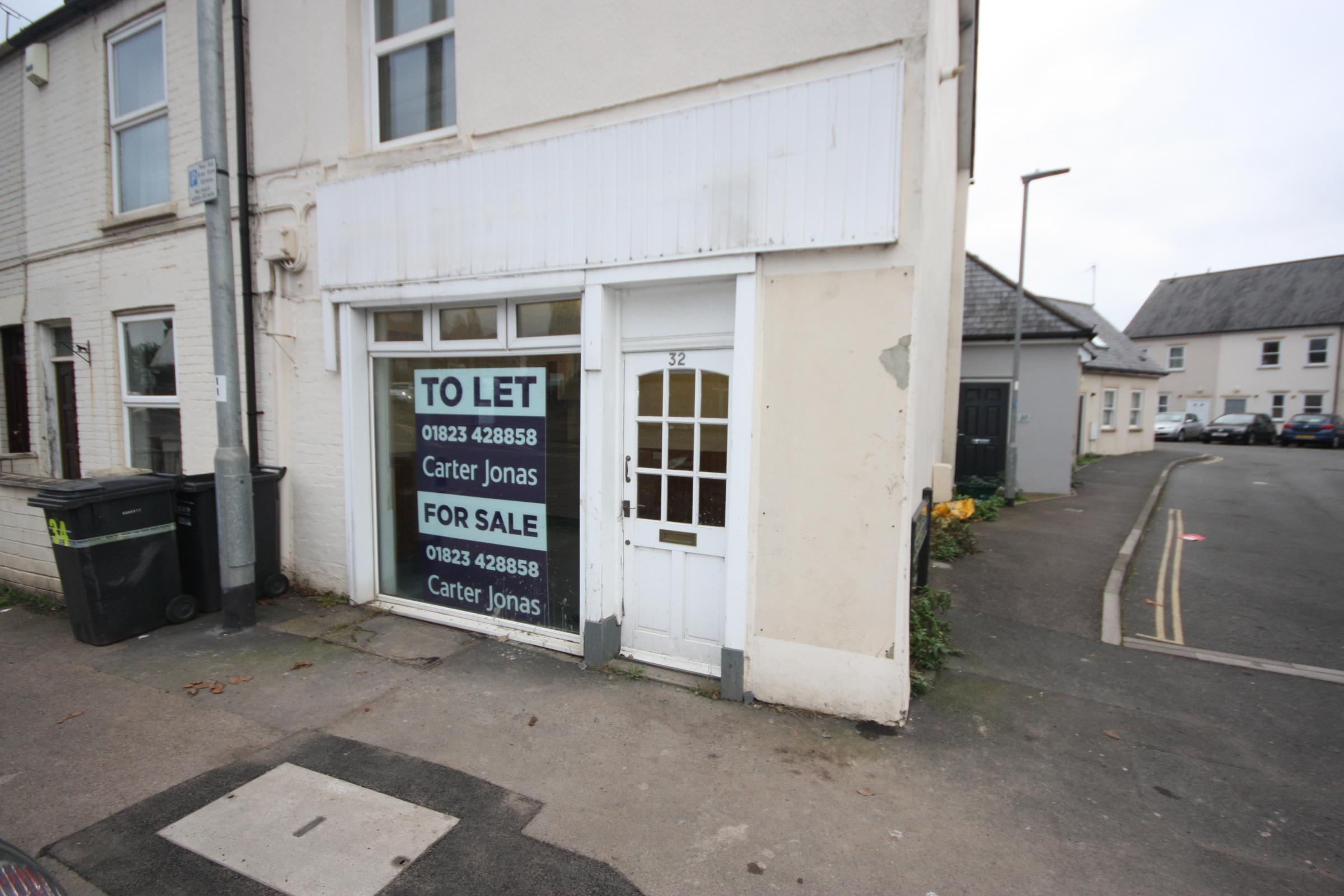 UP FOR RENT: The shop premises, in Kingston Road