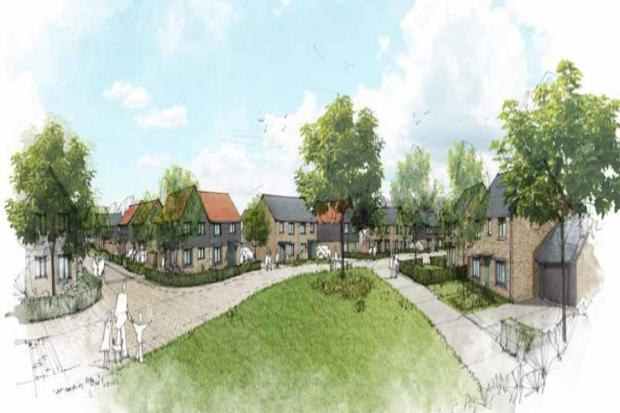 Artist's Impression Of First 110 Homes On Crewkerne Key Site. CREDIT: LHC Group.