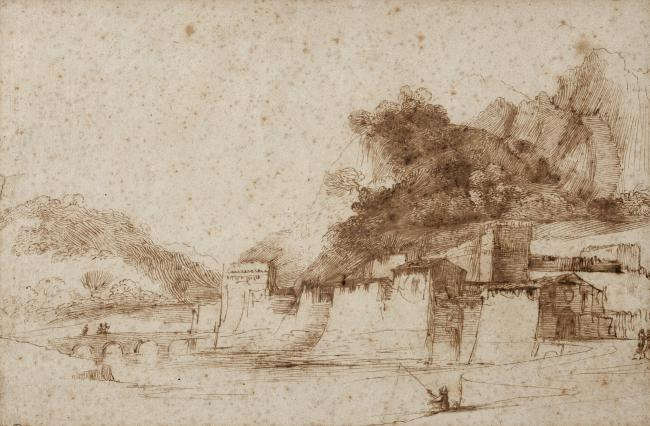 Guercino's drawing, discovered in a Somerset bungalow