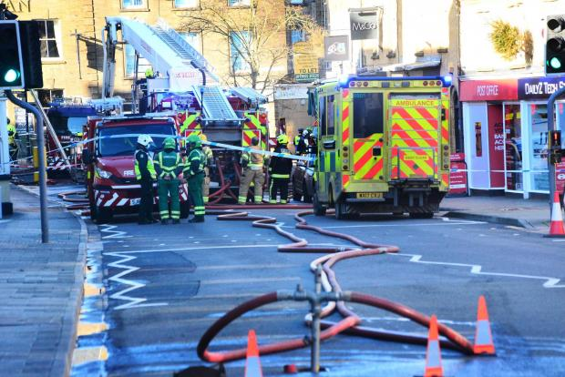 Chard & Ilminster News: FIRE: At the derelict building in market Street, Crewkerne