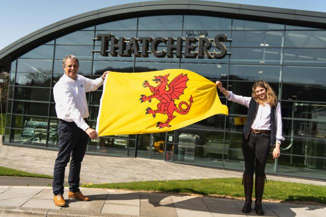 FLYING THE FLAG: Martin Thatcher and Eleanor Thatcher at Myrtle Farm