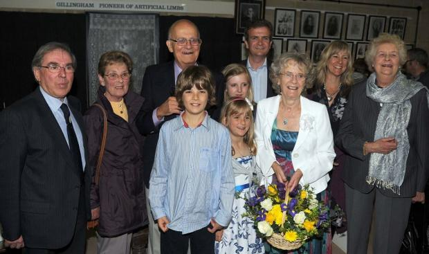 Chard Museum chairman Tony Prior (left) with invited guests at the opening of the 2010 season.