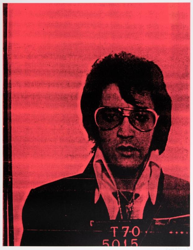 Chard & Ilminster News: LOT: Russell Young, Elvis, Mug Shot series, silkscreen on canvas - £ 1,000 to £ 2,000