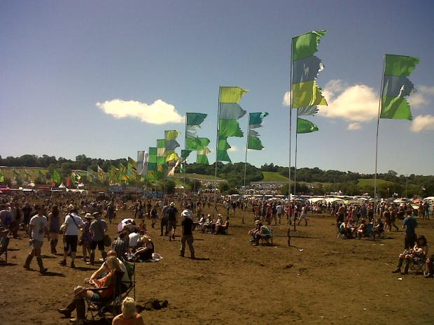 FESTIVAL fans basked in scorching sunshine on Sunday.