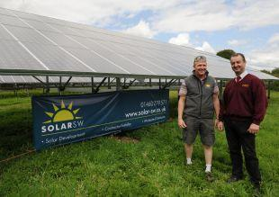 NICK Keeler and Mark Wheaton, directors of Solar SW, pictured at the J B Wheaton and Sons site in Chard Junction.