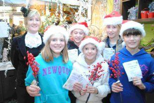 FESTIVE fun at Cottage Flowers on Victorian Evening in East Street, Ilminster. PHOTO: Christine Jones.