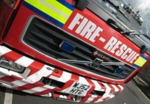 Microwave oven fire at Shepton