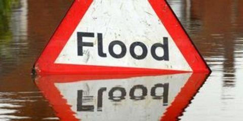 Driver rescued from floods in Burrowbridge
