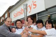 Staff at Sainsbury's in Haxby with the Paralympic torch; from left are Nick Horsley, Jane Stewart, store manager Nicola Oliver, Sue Phillips and Lana Sturdy
