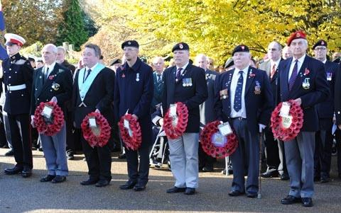 Remembrance Day service in Vivary Park, Taunton. Photo: Geoff Hall