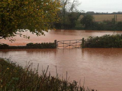Somerset floods November 2012.