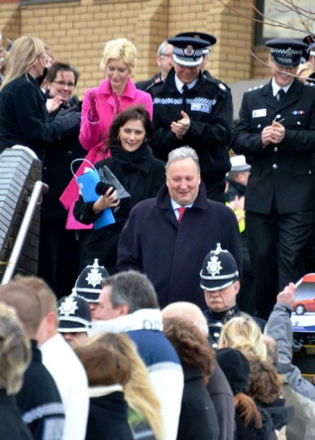 Officers and police staff of all ranks turned out to bid Mr Port farewell at police HQ in Portishead