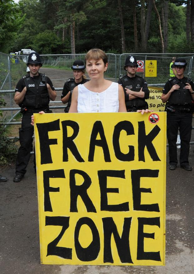 Chard & Ilminster News: Protesters at a fracking site earlier this year