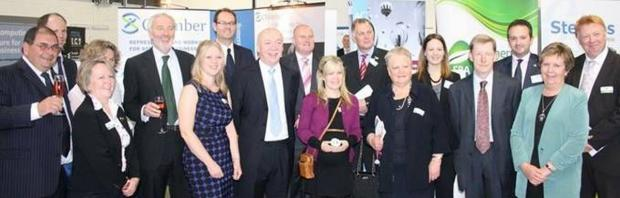 SPONSORS, supporters and judges of the 2013 Somerset Business Awards. PHOTO: Supplied