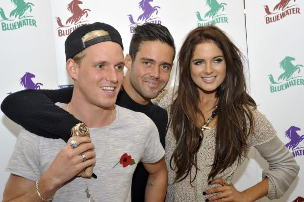 Jamie Laing, left, and Binky Felstead, right