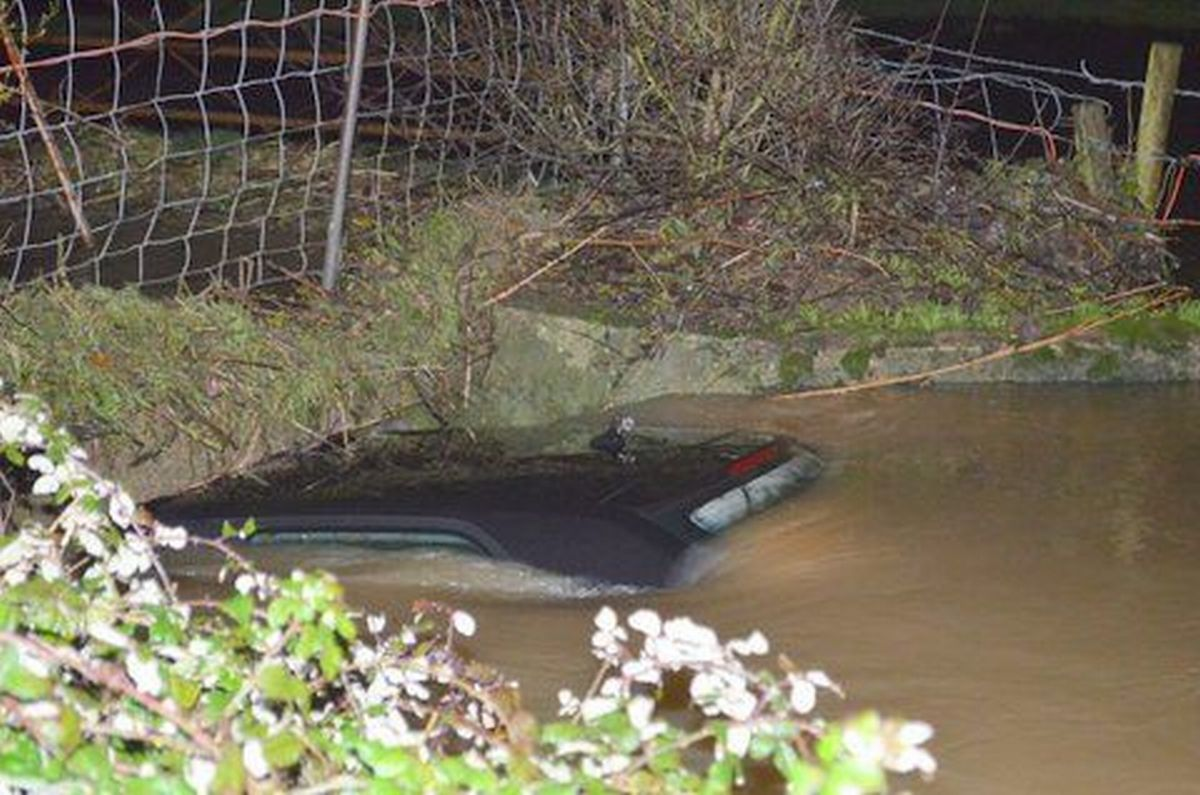 Chard driver 'lucky to be alive' after car is swept into river